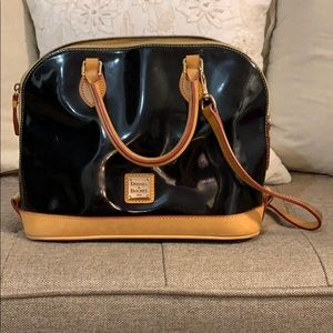 Dooney and Burke black leather purse